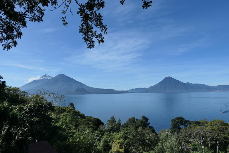 The view of Lake Atitlán from our BnB
