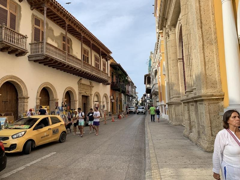 A typical block in Cartagena's old town