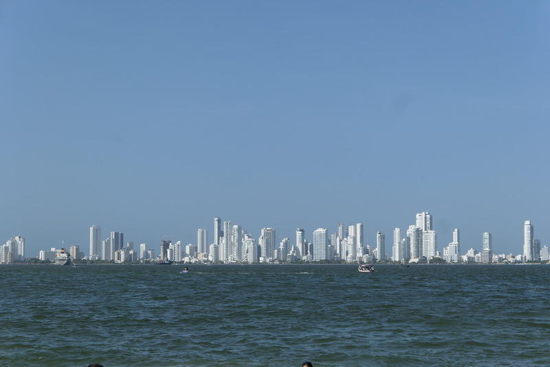 Cartagena's very white skyline