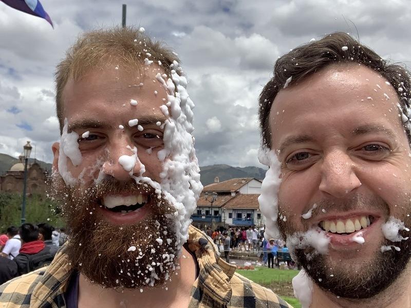A foam blast
