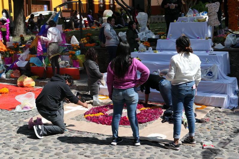 Altars being set up