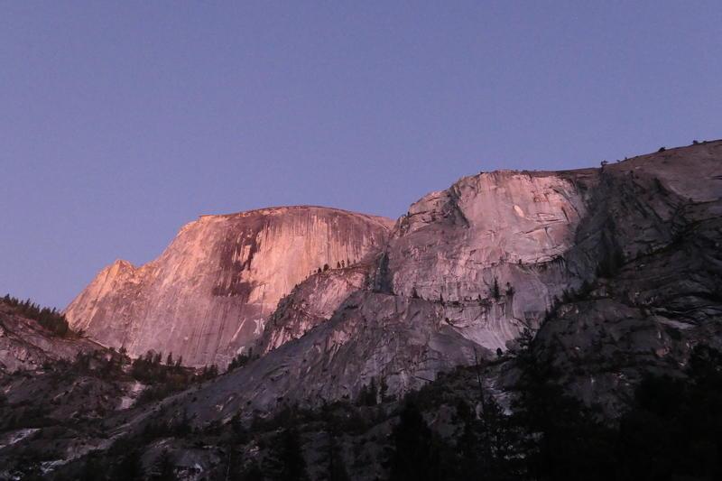 Half Dome at dusk