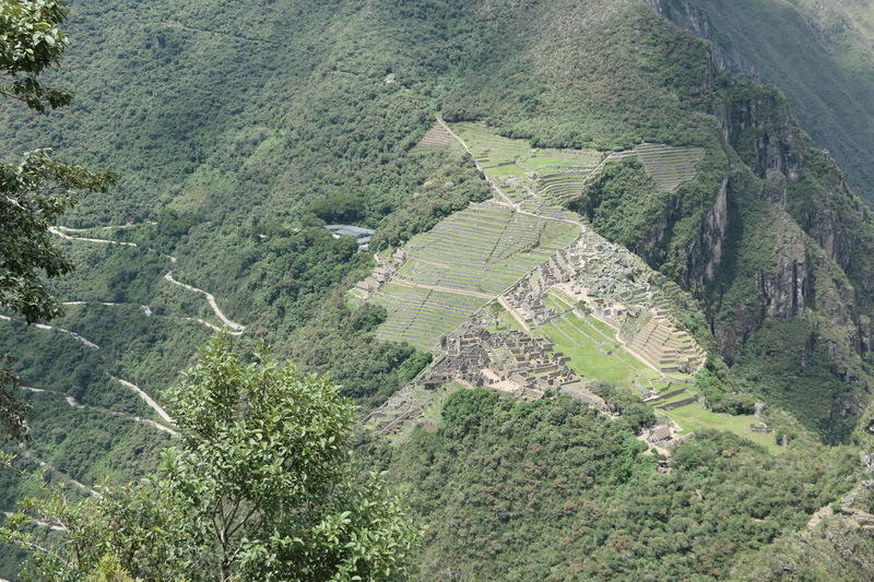 From on top of Huayna Picchu