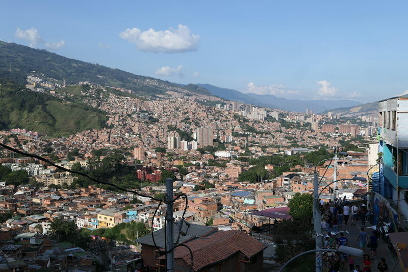 A view of a Medellin mountainside