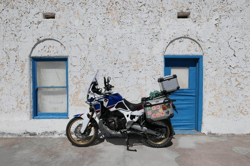 Motorcycle at the Amargosa Opera House