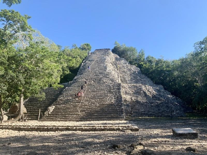 The Nohoch Mul Pyramid