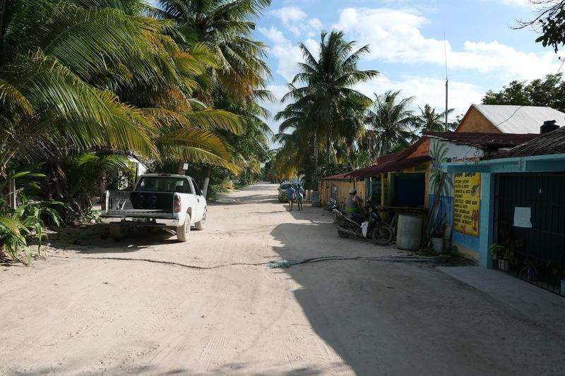 A street in Punta Allen