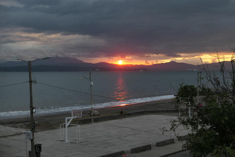 A sunset in Puntarenas