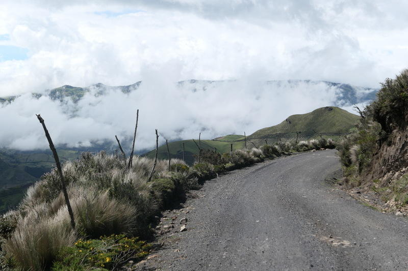 A typical and picturesque Quilotoa road