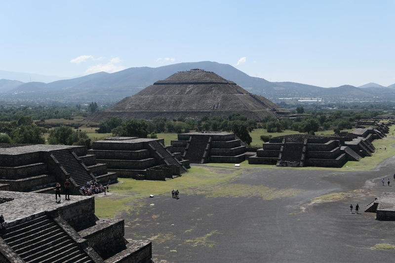 The sun pyramid as viewed from the moon pyramid