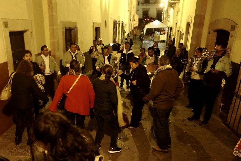 Zacatecas band in an alleyway